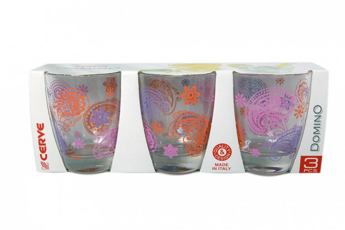 Набор стаканов 3шт 300мл фиолет низкие - арт. m44650
