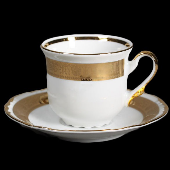чашка с блюдцем 155 ( 230мл ) 12пр/6п - 00000000461