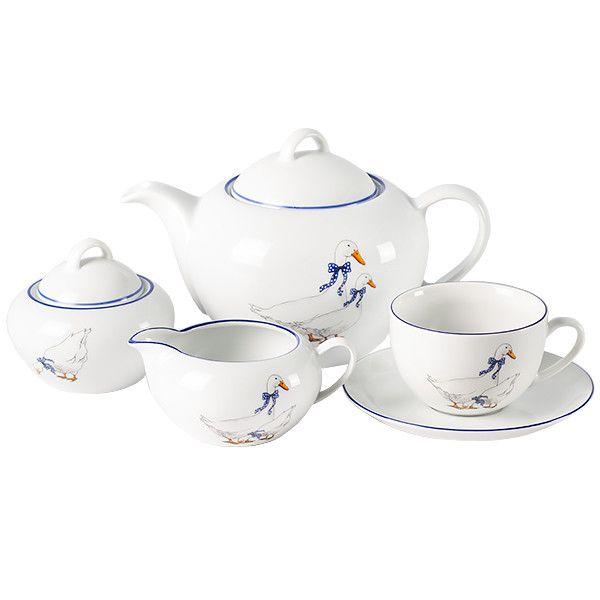 Чайный сервиз ( выс. чаш . ) 17пр./6п . Saphyr - арт. 00000001208
