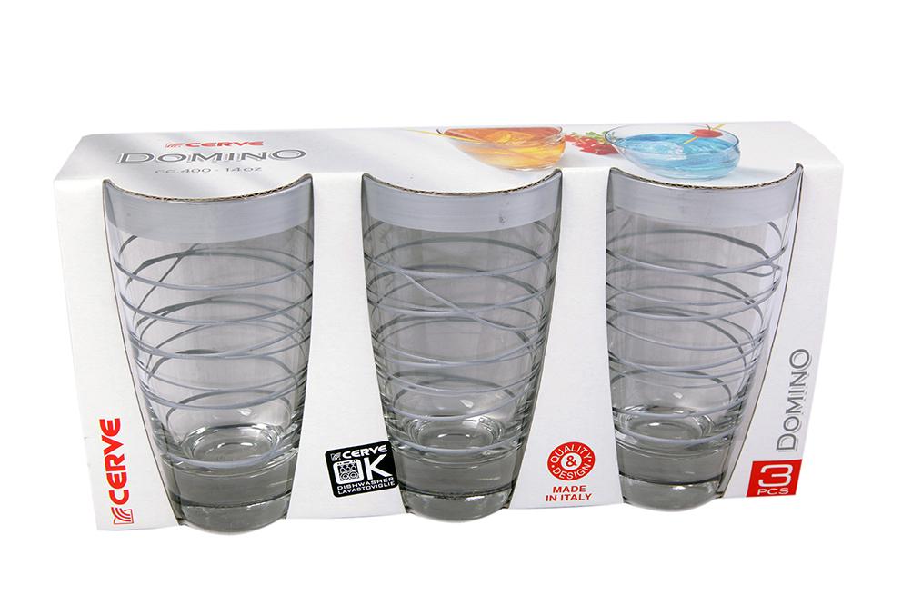 Набор стаканов 3шт 400мл серебро высокие - арт. m41400