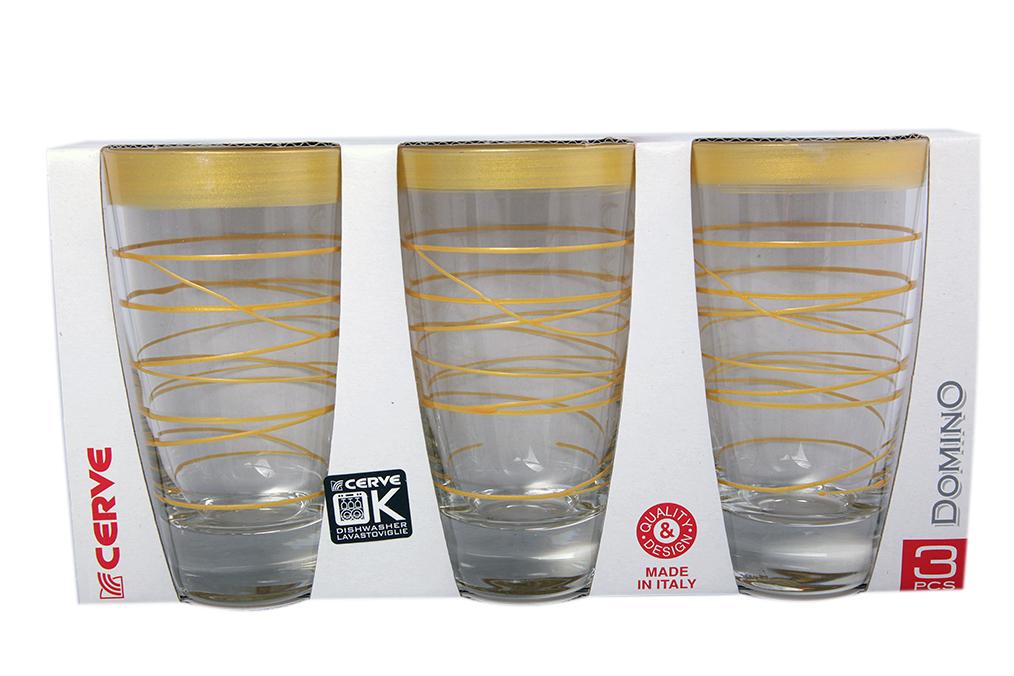 Набор стаканов 3шт 400мл золото высокие - арт. m41350