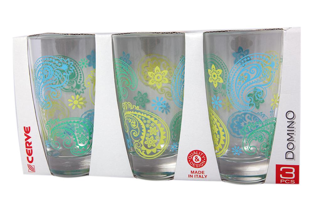 Набор стаканов 3шт 400мл желт высокие - арт. m44780