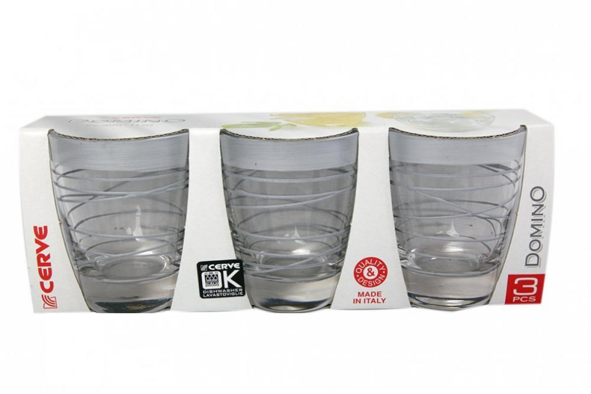 Набор стаканов 3шт 300мл серебро низкие - арт. m41380